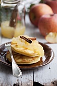 Pancakes with apple sauce