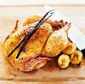 Roast chicken with vanilla (La Reunion)