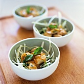 Vietnamese chicken salad with white cabbage and mint
