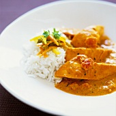 Chicken in masala sauce with rice (La Réunion)