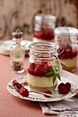Raspberry Marijuana Cheesecakes in Mason Jars
