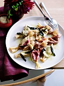 Tortelli saltimbocca (tortelli with ham and sage)