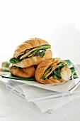 Turkey ham, avocado and pepper mayonnaise sandwich
