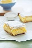 Orange and vanilla cream slices