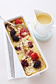 Berry and almond clafoutis
