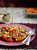 Peppers stuffed with quinoa