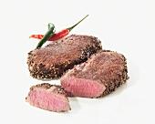 Two pepper steaks