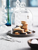 Biscuits under a glass cloche