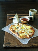 Rustic Buffalo Chicken Pizza with Blue Cheese and Hot Sauce