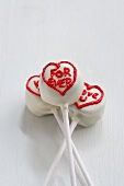 White Cake Pops with writing