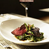 Grilled Leg of Lamb with Escarole