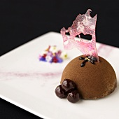 A Cherry Chocolate Mousse Dome