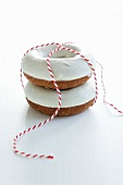 Doughnuts with sugar icing as a gift