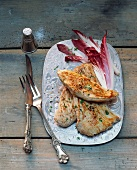 Turkey escalope with endive