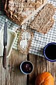 Spelt sourdough bread with butter
