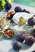 Cheese, figs and pistachio bread