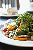 Butternut squash salad with rocket and cashew nuts