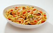 Spaghetti frutti di mare e pomodorini (pasta with seafood)