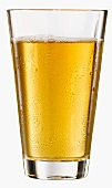 A glass of apple juice