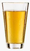 A glass of apple juice
