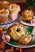 Pear muffins with chocolate