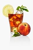 Iced tea with peach
