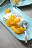 Cassata with caramelised oranges