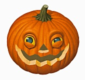 A Halloween pumpkin (illustration)