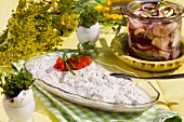 Herring with mayonnaise for Easter (Sweden)