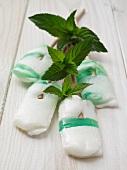 Mini lollies and fresh mint