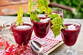 Beetroot soup with celery