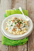 Gnocchi with pear and Gorgonzola sauce