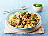 Beef Stroganoff with ribbon pasta