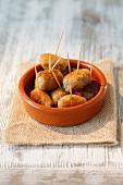 Croquetas de jamon (ham croquettes, Spain)