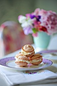 Macaroons filled with cream