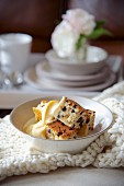 Spotted Dick (steamed pudding with currants, England)