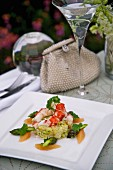 Lobster with asparagus and grapefruit