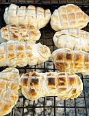 Roosterkoek (barbecued bread rolls, South Africa)