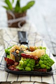 Raclette with Romanesco cauliflower and bacon