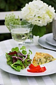 Courgette frittata with a side salad