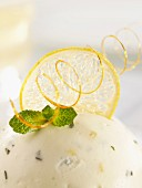 Buttermilk mousse with mint and lemon