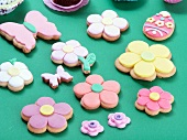 Various Easter biscuits (flowers, butterflies, Easter eggs)