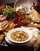 Zuppa di natale (Romanesco broccoli soup with spaghettini)