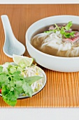 Pho bo (Vietnamese noodle soup with beef)