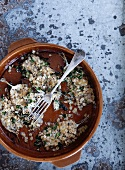 Herring with herbs and oat crust