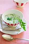 Rocket soup with dill