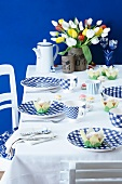 A table laid with a Dutch theme