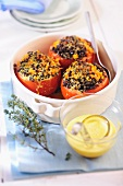 Tomatoes stuffed with lentils