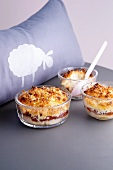 Banana crumble with dates and coconut