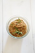 Tomato pesto with cherry tomatoes and rosemary